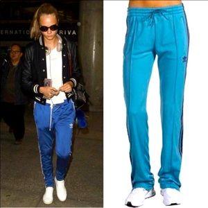 Adidas blue original super girl tracksuit pants